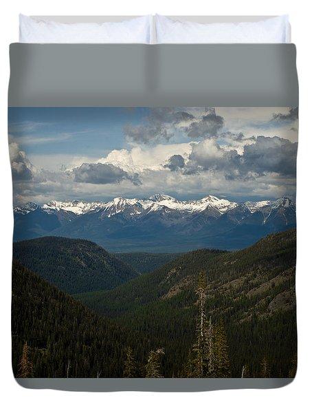 Swan Mountain Range Duvet Cover