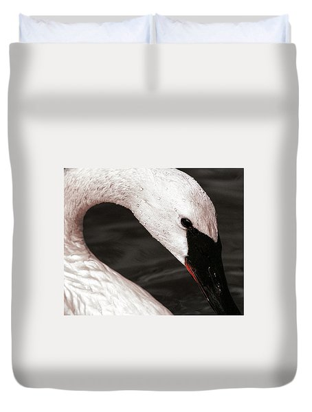 Duvet Cover featuring the photograph Swan Neck by Jean Noren