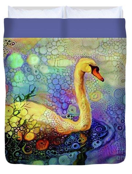 Swan Spectacular Oil Duvet Cover