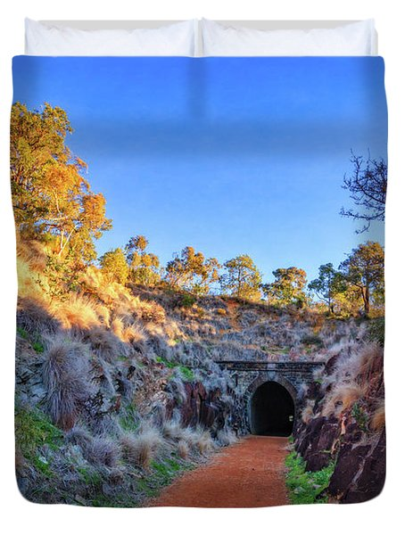 Swan View Railway Tunnel Duvet Cover
