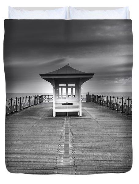 Swanage Pier Duvet Cover