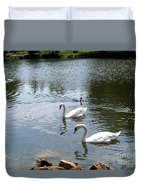 Swans And Ducks Duvet Cover