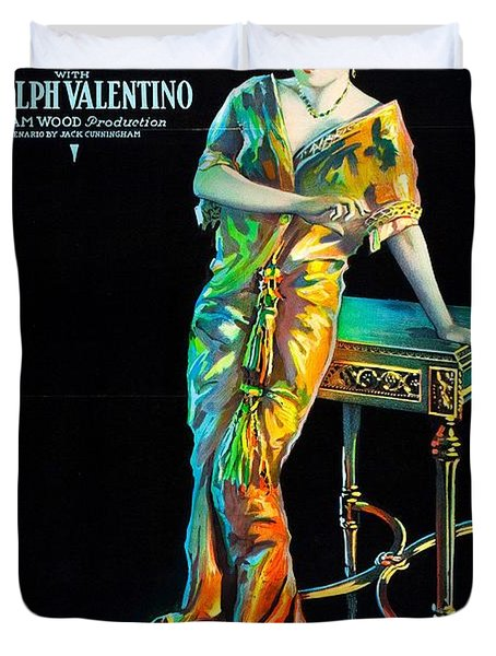 Swanson And Valentino In Beyond The Rocks 1922 Duvet Cover