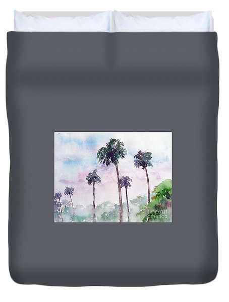 Swaying Palms Duvet Cover