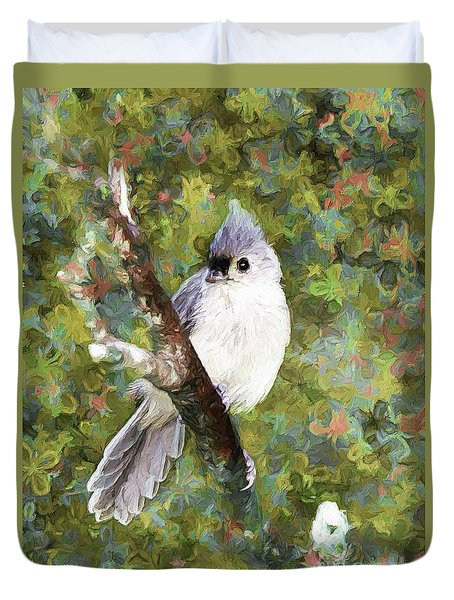 Sweet And Endearing Duvet Cover by Tina  LeCour