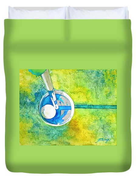 Sweet Anticipation - Golf Series Duvet Cover by Betty M M Wong