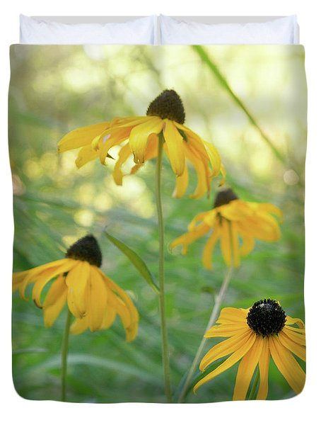 Duvet Cover featuring the photograph Sweet August by Cindy Garber Iverson