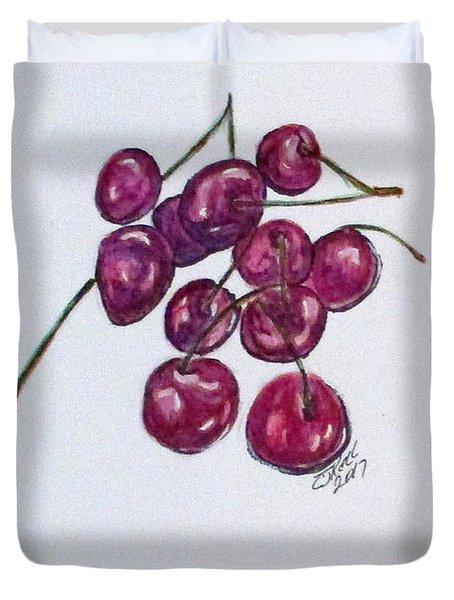 Sweet Cherry Duvet Cover by Clyde J Kell