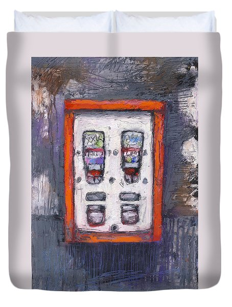 Sweet Childhood Memories,bubblegum Machine Duvet Cover by Martin Stankewitz