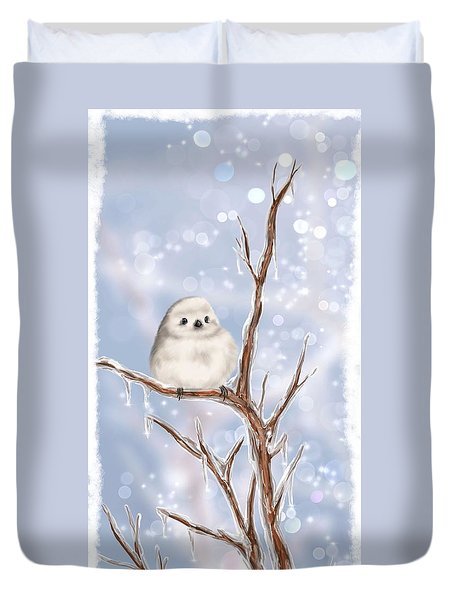 Duvet Cover featuring the painting Sweet Cold by Veronica Minozzi