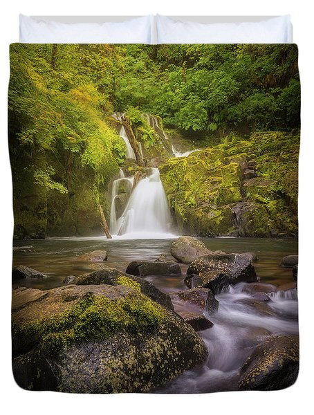 Sweet Creek Falls Duvet Cover