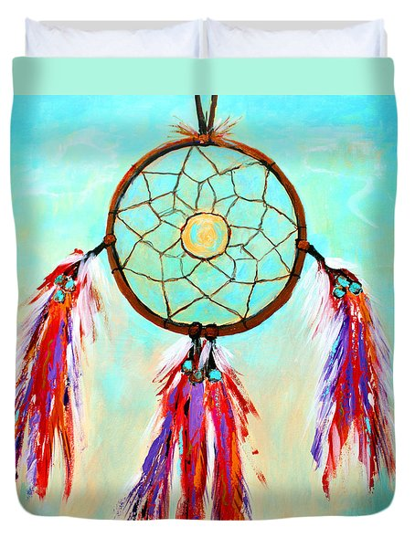 Duvet Cover featuring the painting Sweet Dream Catcher by M Diane Bonaparte