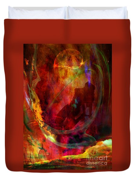 Duvet Cover featuring the digital art Sweet Dream by Johnny Hildingsson