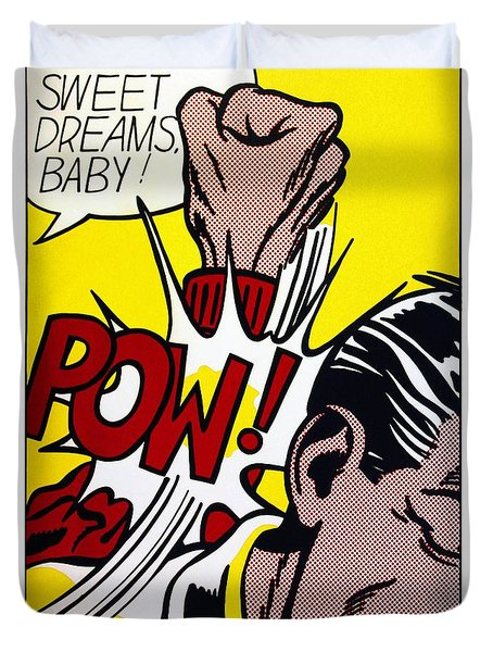 Sweet Dreams Baby - Roy Lichtenstein Duvet Cover
