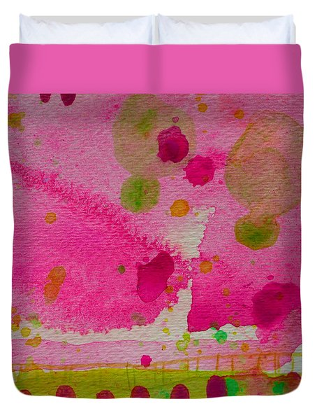 Duvet Cover featuring the painting Sweet Dreams by Tracy Bonin