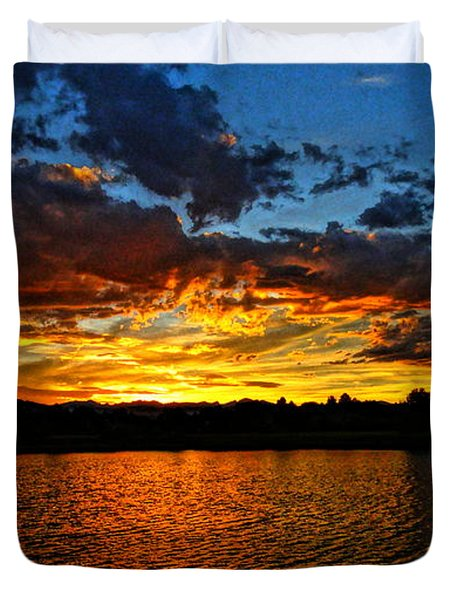 Sweet End Of Day Duvet Cover by Eric Dee