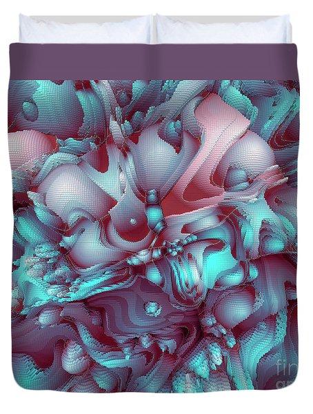 Sweet Flowers Duvet Cover by Moustafa Al Hatter