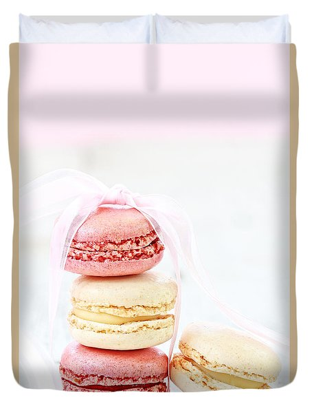 Sweet French Macarons Duvet Cover