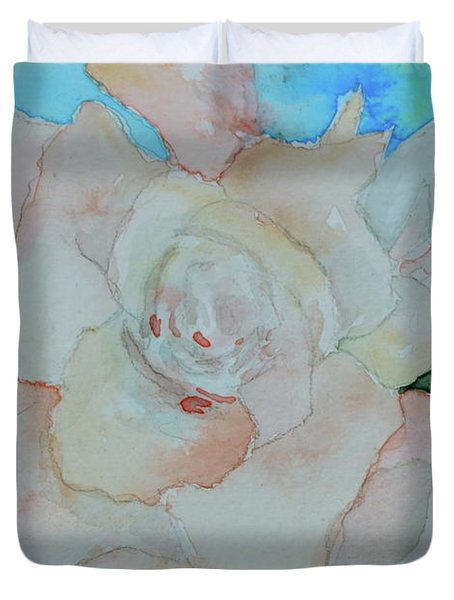 Duvet Cover featuring the painting Sweet Gardenia by Beverley Harper Tinsley