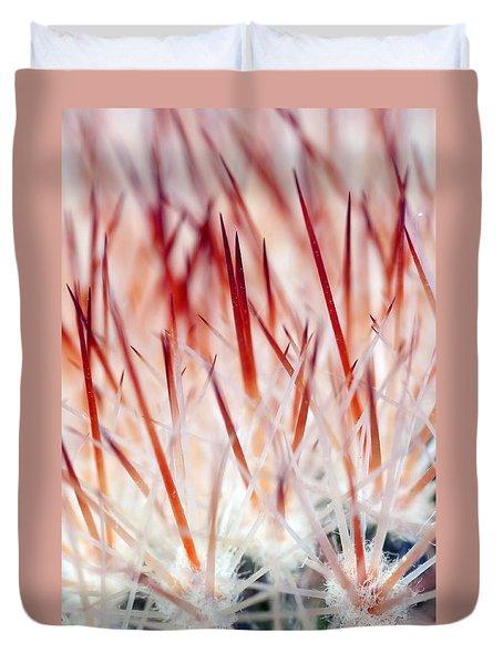 Sweet Gentle Pink Blooming Cacti Duvet Cover