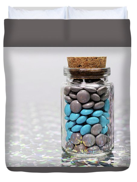 Sweet Happy Pills Duvet Cover by Afrodita Ellerman