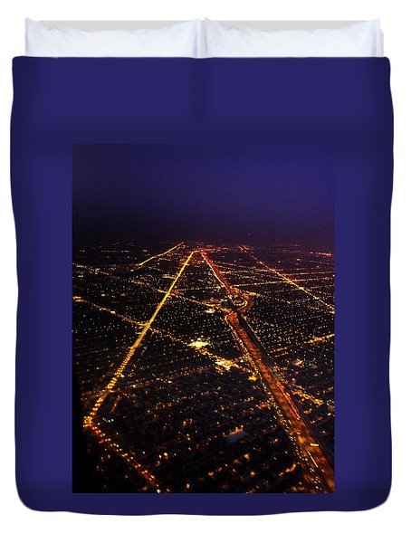 Sweet Home Chicago Duvet Cover by Tracey Rees