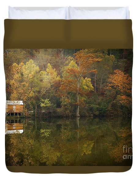 Sweet Home Duvet Cover by Iris Greenwell