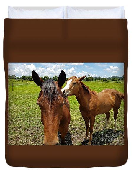 Sweet Horses  Duvet Cover
