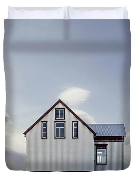 Sweet House Under A White Cloud Duvet Cover