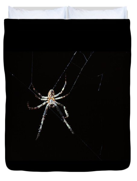Sweet Lady Guarding Shed Duvet Cover