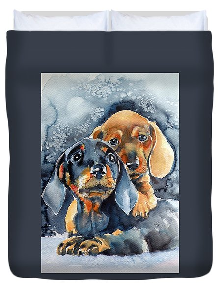 Sweet Little Dogs Duvet Cover
