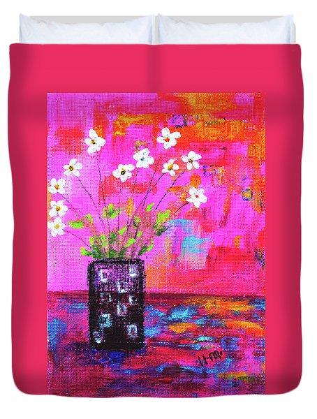 Sweet Little Flower Vase Duvet Cover