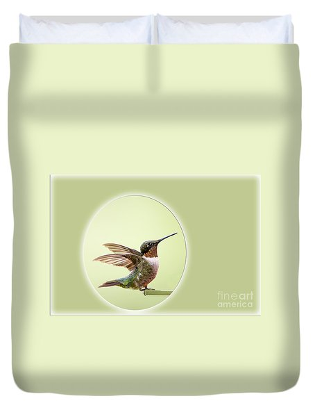 Duvet Cover featuring the photograph Sweet Little Hummingbird by Bonnie Barry