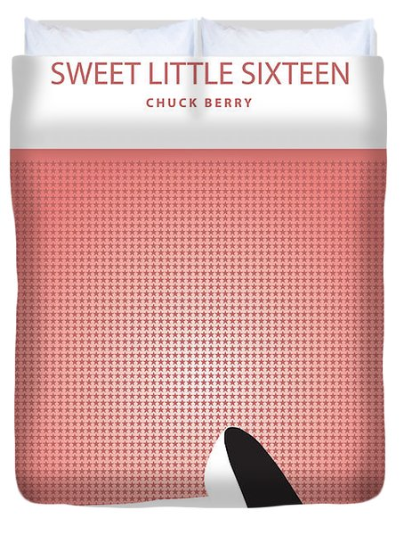 Sweet Little Sixteen -- Chuck Berry Duvet Cover
