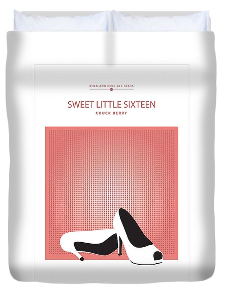 Sweet Little Sixteen -- Chuck Berry Duvet Cover by David Davies