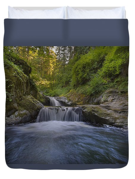 Sweet Little Waterfall Duvet Cover by David Gn