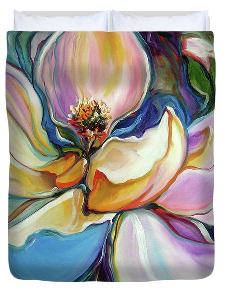 Sweet Magnoli Floral Abstract Duvet Cover