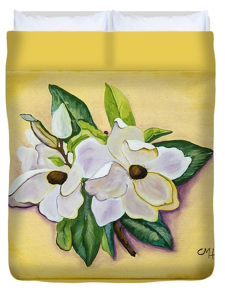Sweet Magnolias Duvet Cover by Christie Nicklay