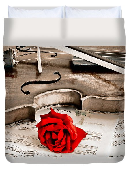 Sweet Music Duvet Cover by Don Schwartz