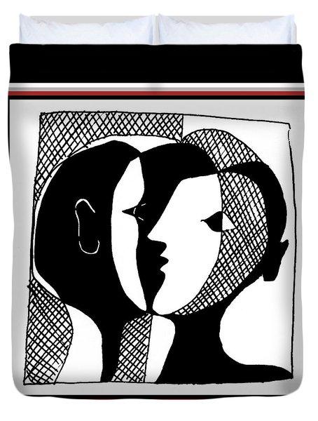 Duvet Cover featuring the digital art Sweet Nothings by Vagabond Folk Art - Virginia Vivier