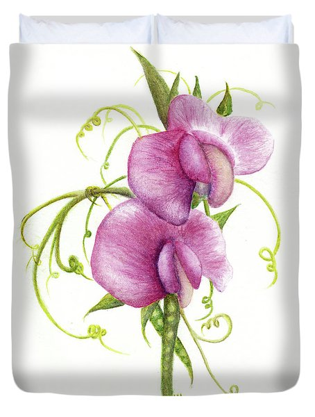 Sweet Pea Duvet Cover