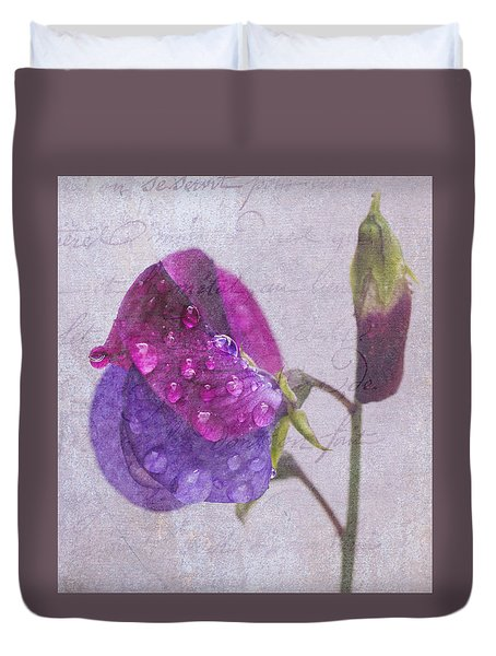 Sweet Pea Raindrops Duvet Cover