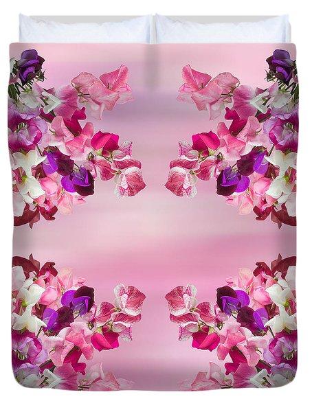 Sweet Peas Design Duvet Cover by Jane McIlroy