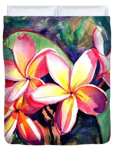 Sweet Plumeria Duvet Cover