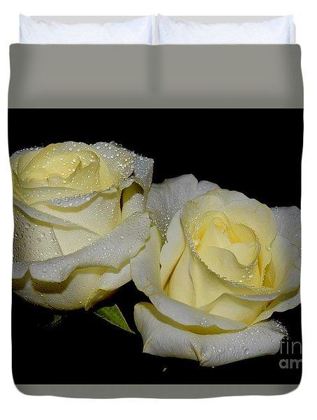 Friendship Roses Duvet Cover