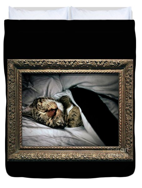 Duvet Cover featuring the photograph Sweet Simba Photo A8117 by Mas Art Studio