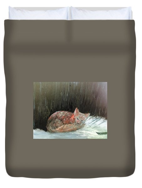 Duvet Cover featuring the painting Sweet Slumber by Trilby Cole