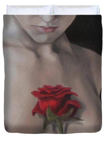 Sweet Smell Of Sin Duvet Cover by Jindra Noewi