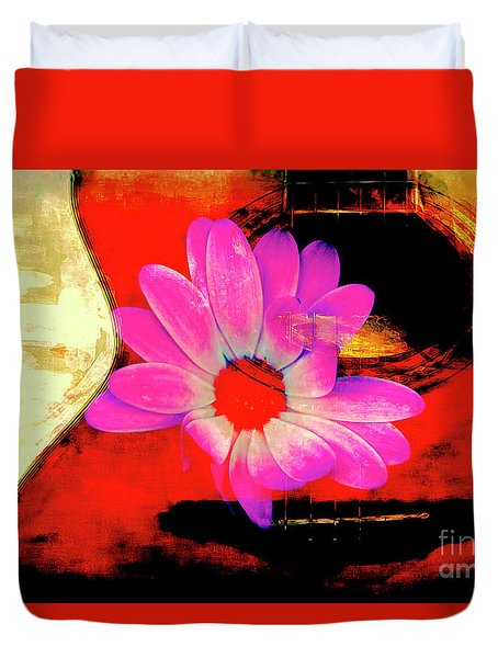 Duvet Cover featuring the photograph Sweet Sound by Al Bourassa