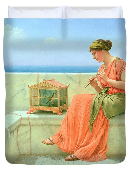 Sweet Sounds Duvet Cover by John William Godward